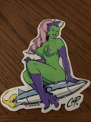 COOP ROCKET GIRL STICKER Decal 1999