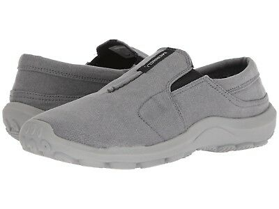 NEW Mens Merrell Jungle Ayers Moc Castlerock Canvas Grey Casual Slip On Shoes