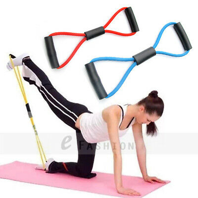 Yoga Pilates Pull Rope Gym Fitness Resistance Elastic Rubber Bands Training