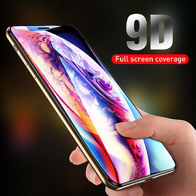 9D Tempered Glass Screen Protector for iPhone 6 7 8 Plus X XR XS Max Accessory