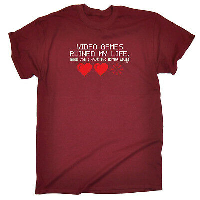 Funny Novelty T-Shirt Mens tee TShirt - Video Games Ruined My Life