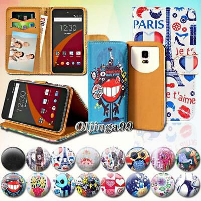 For Wileyfox Spark/Swift SmartPhones - Leather Wallet Card Stand Flip Case Cover