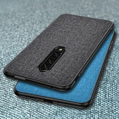 For OnePlus 6T 6 Shockproof Hybrid Cloth Fabric+TPU Matte Soft Fitted Case Cover