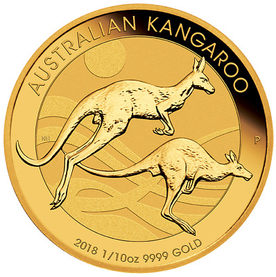 Perth Mint Kangaroo Minted Coin Gold, year 2018