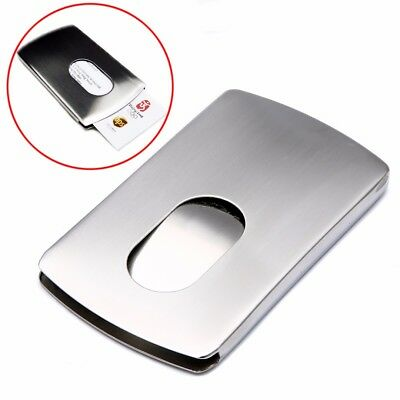 Wallet Business Stainless Steel Box Name Credit ID Card Holder Pocket Case US