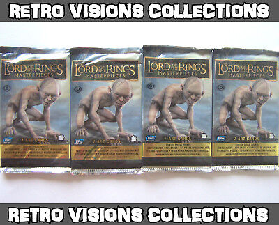 Lord of the Rings Masterpieces Trading Cards 2006 - 4 Packs