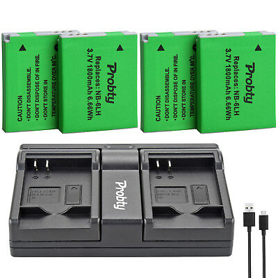 NB-6L Battery + Charger for Canon Powershot S120 SX510 SX280 HS SX500 is SX700
