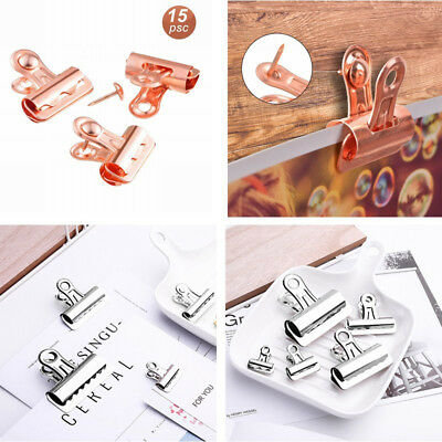 15 Pcs Push Pins Clips Creative Paper Clips with Pins for Cork Board and Photo