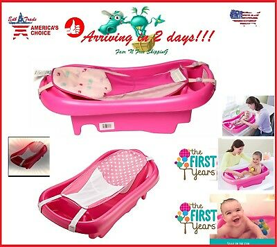 Baby Infant Bath Tub Safety Pink Seat Bathing Newborn Shower Mesh Sling Toddler