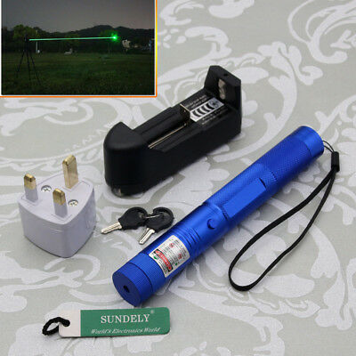 Brand New Powerful 303 Green Pointer Laser Pen Adjustable Focus 532nm Lazer