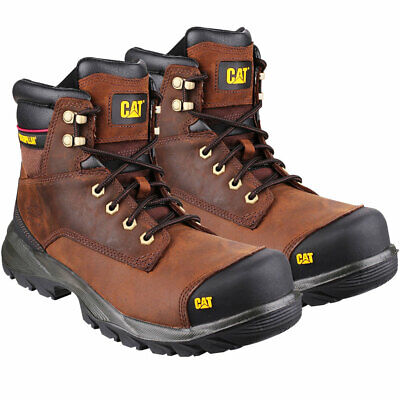 Caterpillar Cat Spiro Water Resistant Safety Boot Brown Size 8