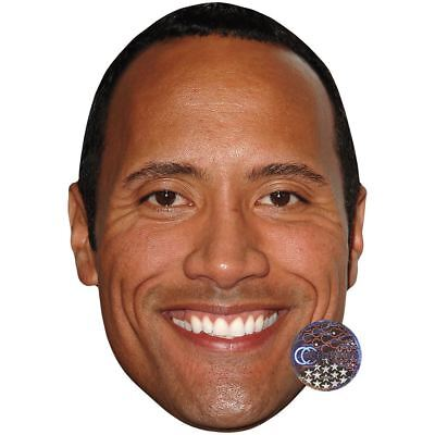 Dwayne 'The Rock' Johnson (Smile) Maske aus Pappe