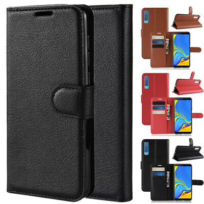 For Samsung Galaxy A7 2018 Flip Leather Wallet Case Full Cover Card Holder Cover