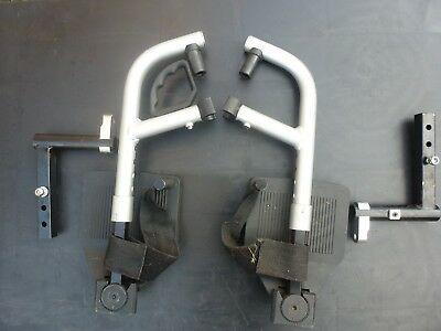 bischoff & bischoff terra 8351 power chair both front foot rests with fitments
