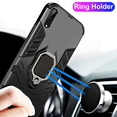 For Huawei P20 Mate 20 Lite/Honor 8X Max Armor Case Magnetic Ring Holder Cover