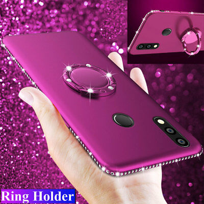 Bling Diamond TPU Shockproof Case for Huawei P20 Lite Pro/8X Max/Y7 Stand Cover