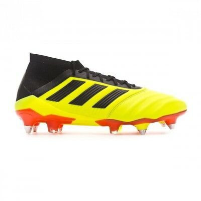 new product aeb3f a749d Chaussure de football adidas Predator 18.1 SG Cuir Solar yellow-Black-Solar  red