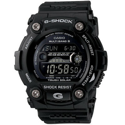 Casio Mens 50 mm G-Shock Solar 6 Atomic  Water Resistant Classic Color Watch