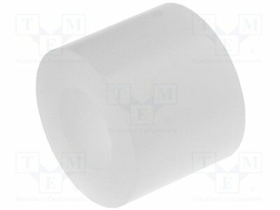 Spacer sleeve; cylindrical; polystyrene; L:8mm; Øout:10mm [10 pcs]