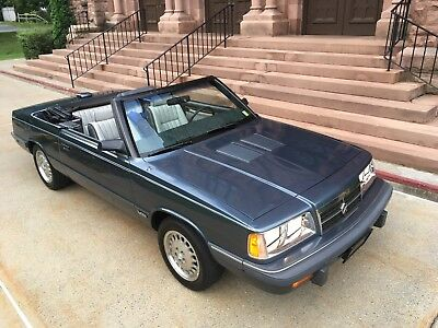 1986 Dodge 600 ES Convertible Highly Optioned 600 ES Convertible with A/C