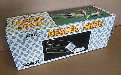 NOBLE clear Acrylic DEALER SHOE card dispenser .. casino blackjack poker ...