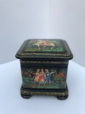 Stunning Russian Fairytale Lacquer Box - Highest Quality