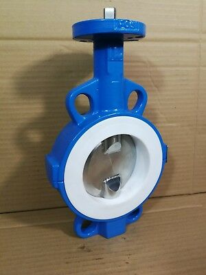 """Econ DN 100/4 4"""" Butterfly Valve 18 BAR 316 S/St Disc PTFE Seal PN10/26/ANSI *"""