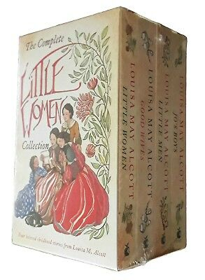 Little Women 4 Book Box Set Louisa May Alcott Good Wives Little Men Fiction New
