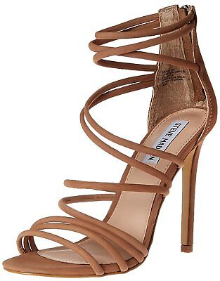 08704fb5292 STEVE MADDEN WOMENS Santi Leather Open Toe Special Occasion, Black ...