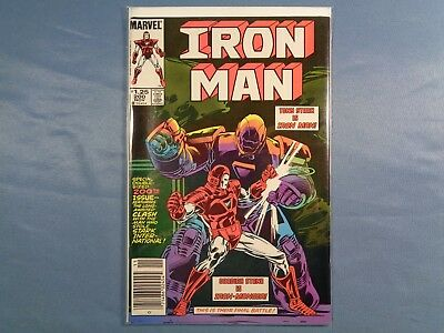 Iron Man #200 (NM-) Newsstand Edition Iron Monger 1st Appearance Red/White Armor