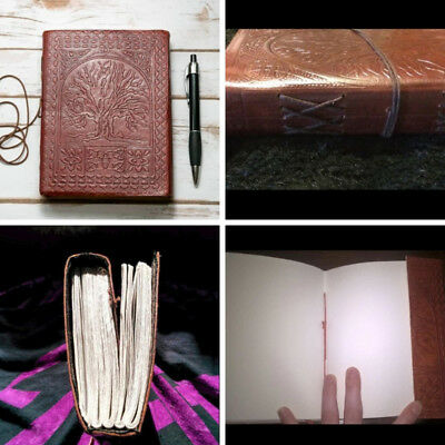 Vintage Sacred Oak Large Tree Of Life Leather Blank Book Diary Journal Xmas Gift