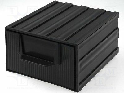 Module with drawer; Usable dim: 94x115x51mm; Module: black[20 set]