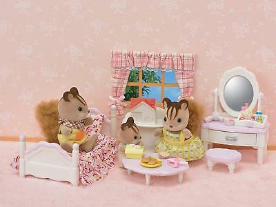 Sylvanian Families Set Bedroom and toilet Bed Mirror and Accessories TOILET