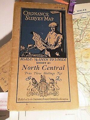 NORTH OF ENGLAND-1920's MOTOR CYCLE MAP: ELLIS MARTIN COVERS-COLOUR-CHOSEN ROADS