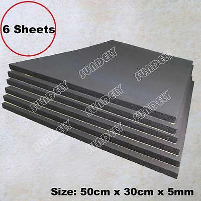 6 Sheets Car Sound Proofing Deadening Van Boat Insulation Closed Cell Foam 5mm