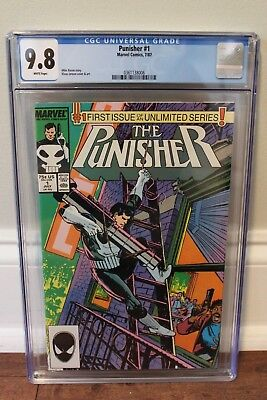 Punisher 1 (Unlimited Series) - Key 1st Issue - CGC 9.8 (NM/M) - White Pages