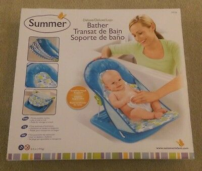 Summer Infant Deluxe Travel Baby Bather Splash Bath Support Seat Chair BLUE