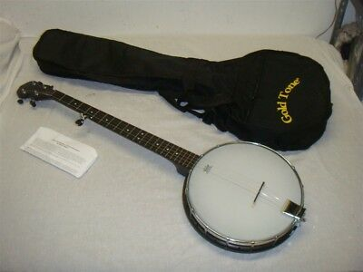Gold Tone Ac-1 Acoustic Composite 5 String Open Back Banjo W Gigbag