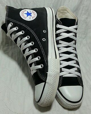 Converse vintage made USA all hi top 1990's black and white size 10 men's
