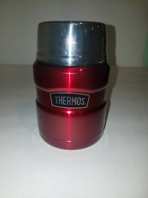 Thermos 16 oz. Stainless King Vacuum Insulated Stainless Steel Food Jar RED