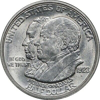 1923-S Monroe Silver Half Dollar, Commemorative Uncirculated BU