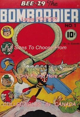 """BEE-29 THE BOMBARDIER 1945 = #1 Dragon = POSTER Not Comic Book 8 SIZES 18"""" - 36"""""""