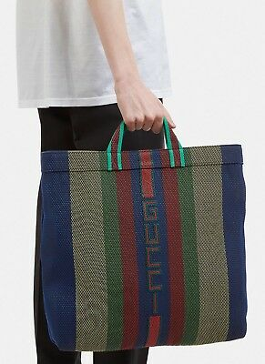 c825d7ef483c Authentic Gucci Logo Woven Rubber Beach Tote Bag Sack SS18 Retail $980