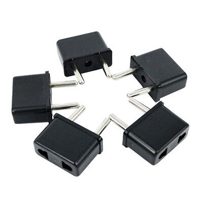 5pc CA To EU Europe EURO Travel Charger Power Adapter Converter Wall Plug
