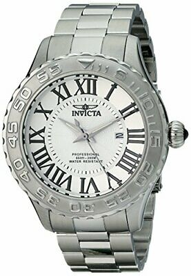 Invicta Men's 14378 Pro Diver Silver Textured Dial Stainless Steel Watch