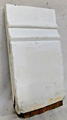 1800's Wooden Antique BASE Plinth Block DOOR Trim Molding Wood Block ORNATE
