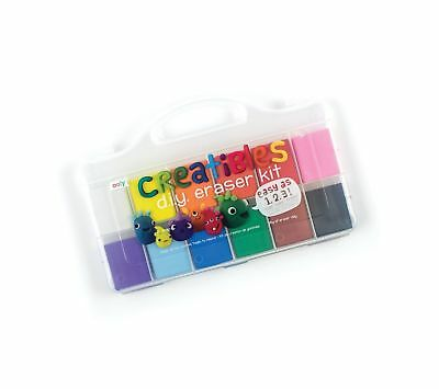 OOLY, Creatibles DIY Erasers, Set of 12 (161-001) Multi Colors