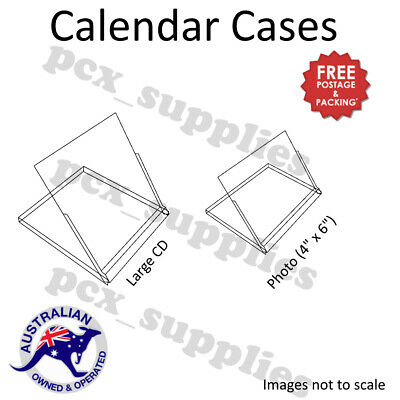 Super Clear Plastic Calendar Display jewel Cases 5 sizes Free Post