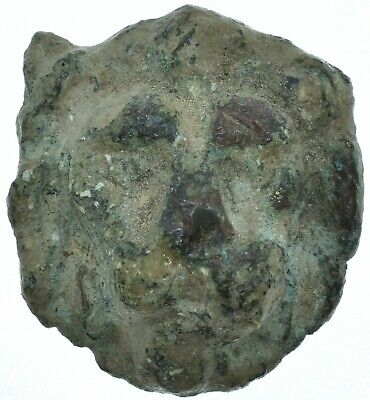 1St Century Bc Lion Head Roman Statue Head Applique /amulet /authentic