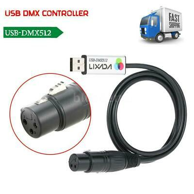 Stage Cable USB to DMX512 Interface Adapter LED Lighting Controller Dimmer O4A5